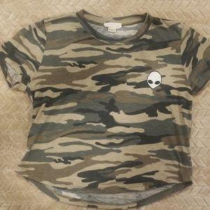 Camouflage alien shirt by Full Tilt Tilly's